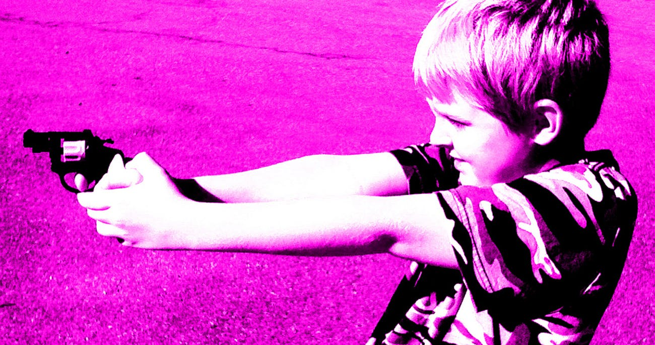 Gun study shows the influence violent movies have on children.