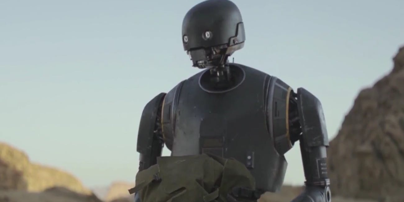 K-2SO in 'Rogue One' is the distant cousin of the Imperial Probe Droid in 'The Empire Strike Back'
