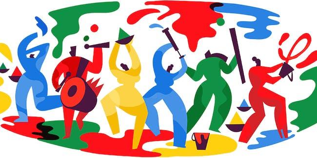 Holi Google Doodle