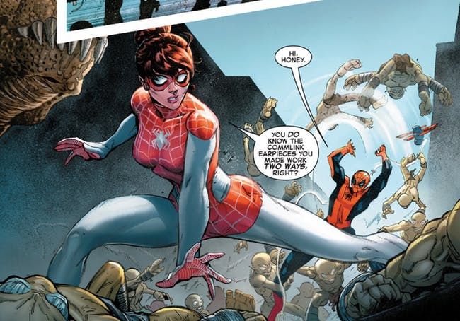 Panel from The Amazing Spider-Man: Renew Your Vows