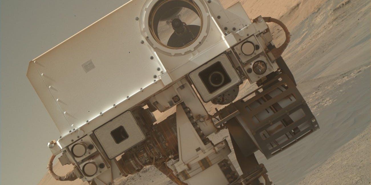 A selfie take by NASA's Curiosity Rover.