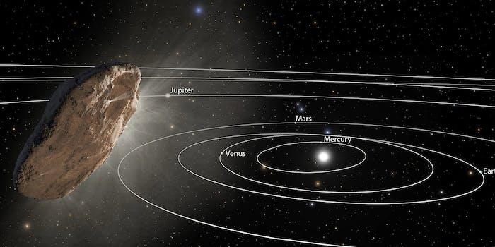 'oumuamua solar system