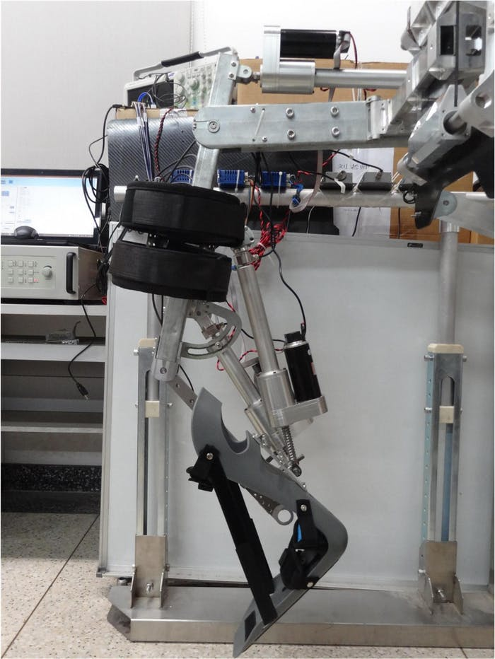A prototype of the Beihang robot.