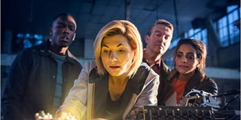 "The 13th Doctor and her three ""best friends"" in 'Doctor Who' Season 11."
