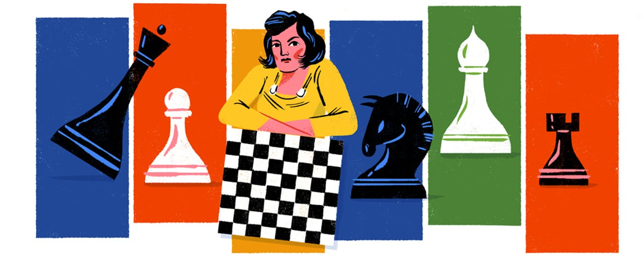Today's Google Doodle portrays Lyudmila Rudenko on what would have been her 114th birthday.
