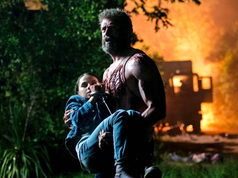 Hugh Jackman as Wolverine and Dafne Keen as Laura/X-23 in Fox's 'Logan'