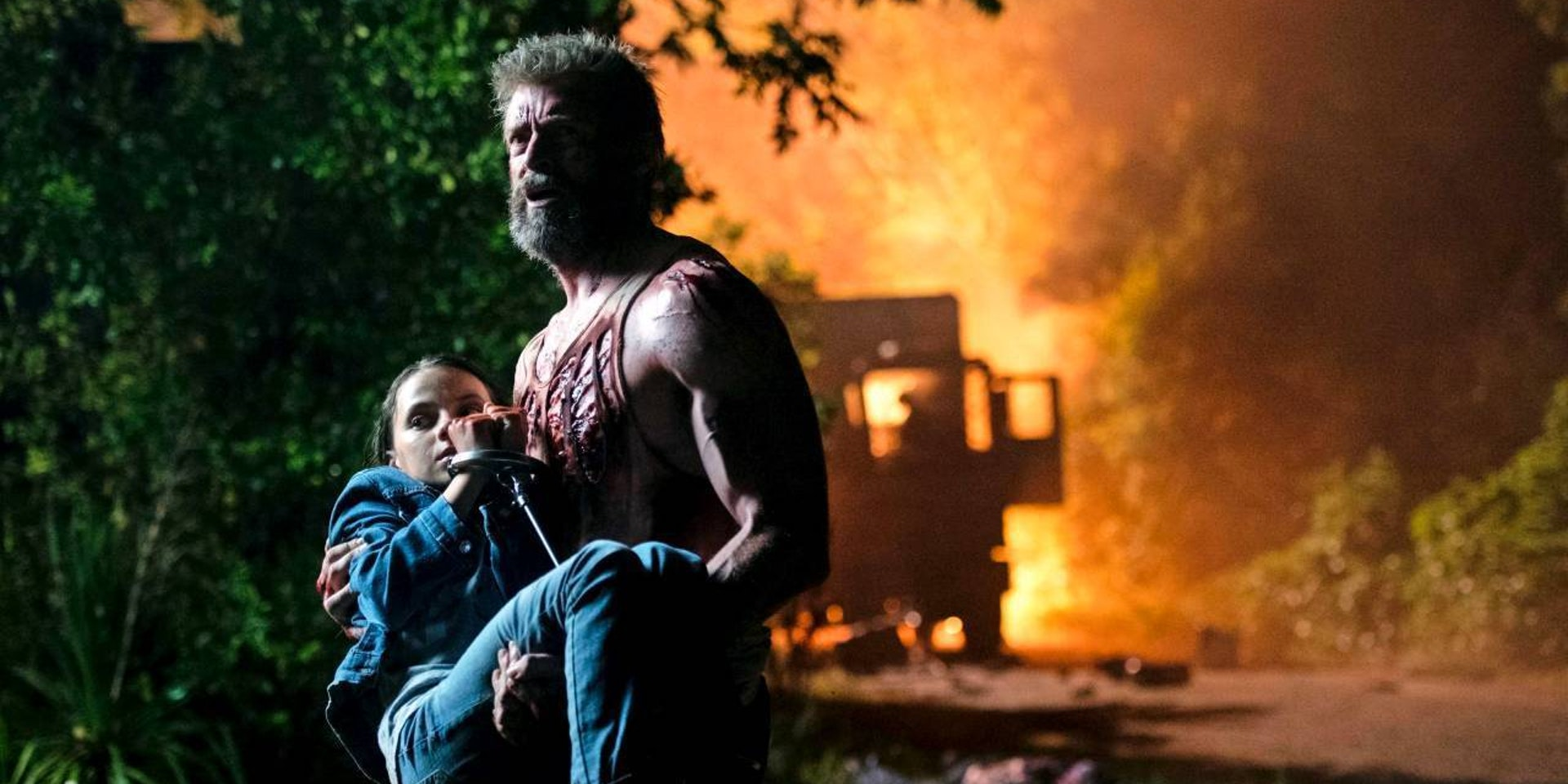 Hugh Jackman as Wolverine and Dafne Keen as Laura/X-23 in Fox's 'Logan'