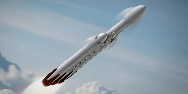 SpaceX Test Fires Falcon Heavy