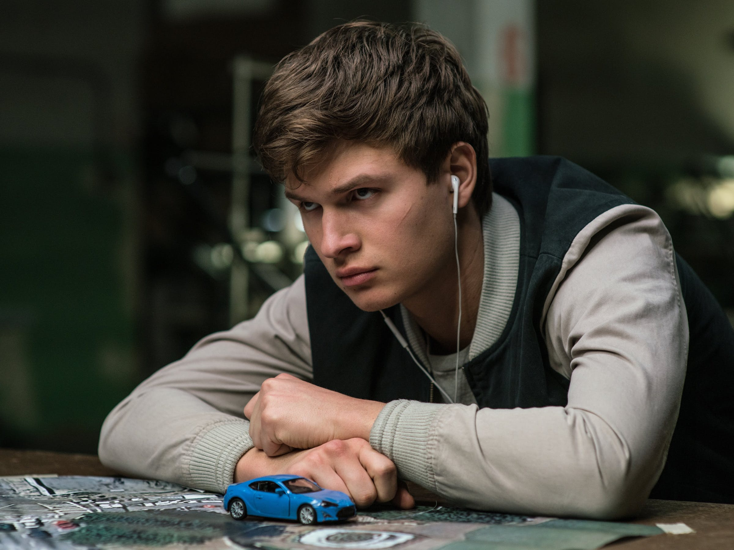 Ansel Elgort in 'Baby Driver'