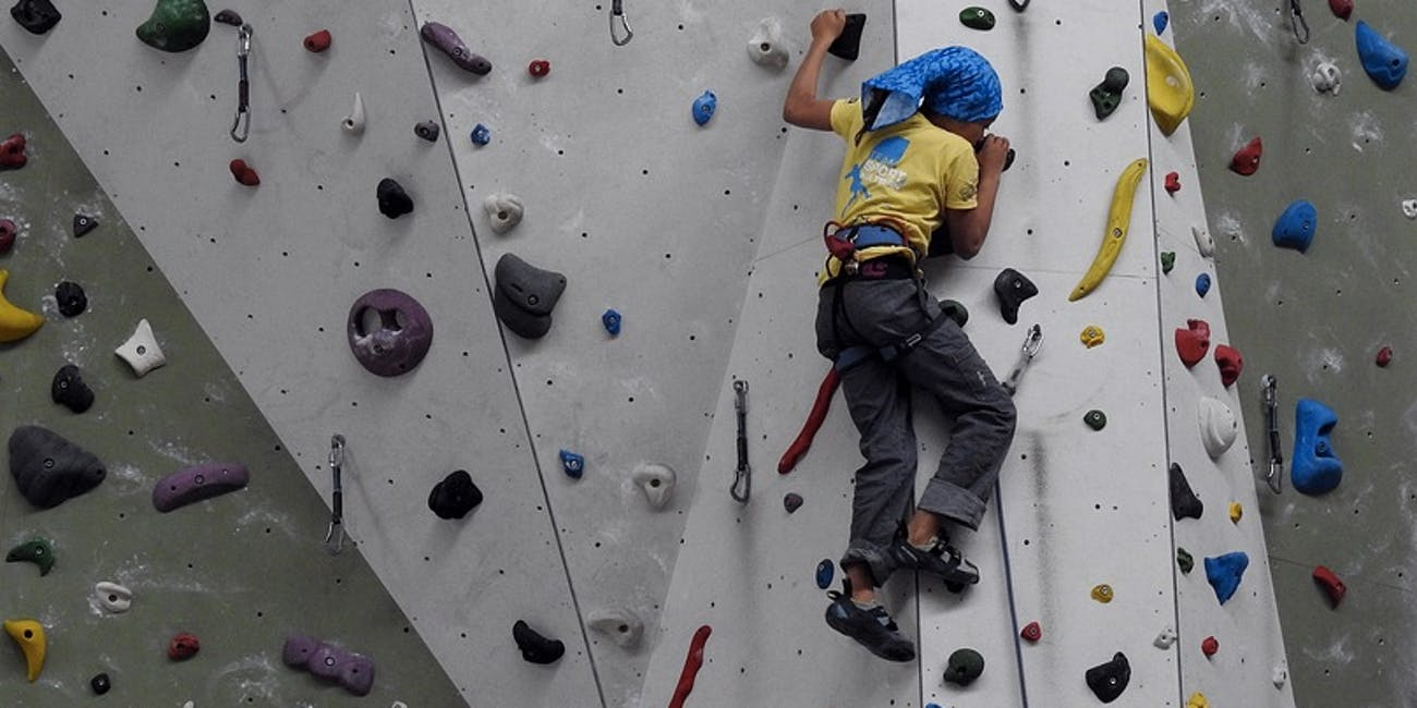 Depression can be helped by rock climbing.