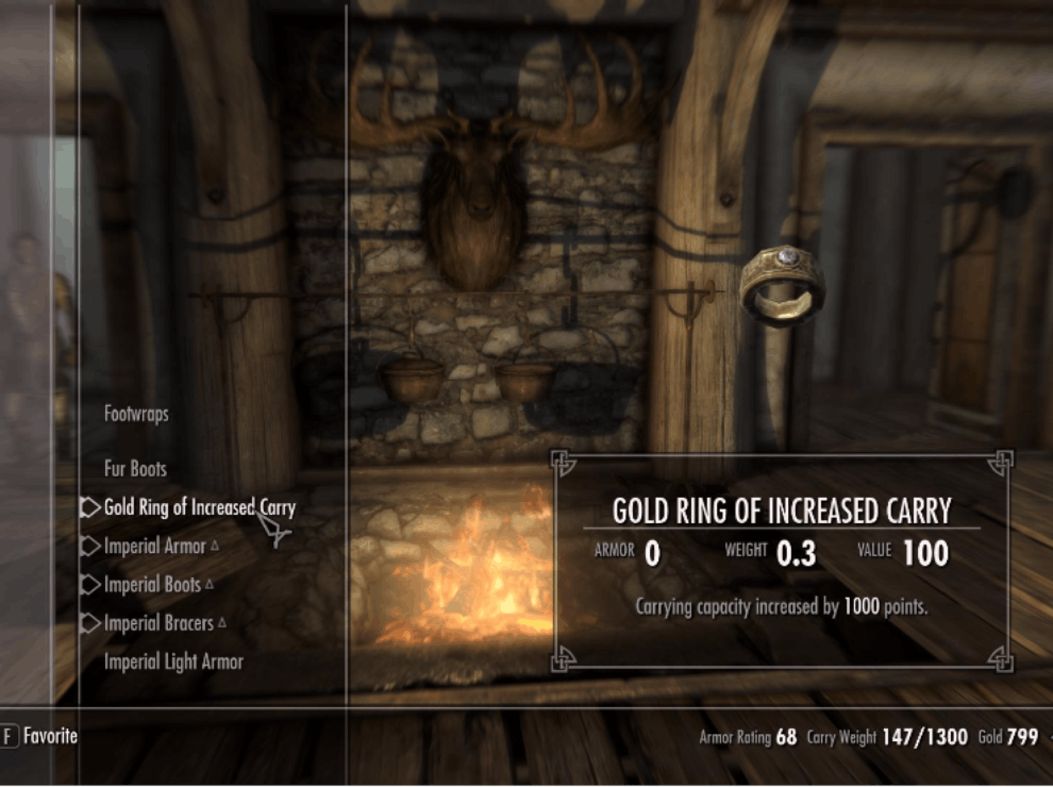 Gold Ring of Increased Carry