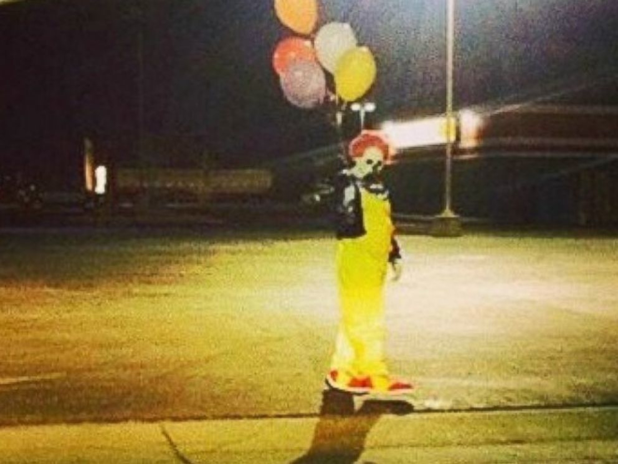 creepy clown sighting photo