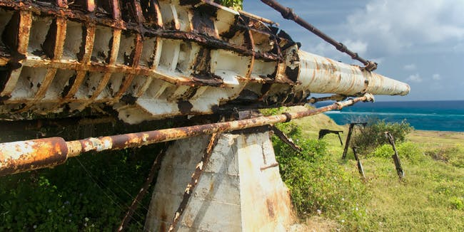 The remains of the abandoned Gun from Project HARP in Barbados.