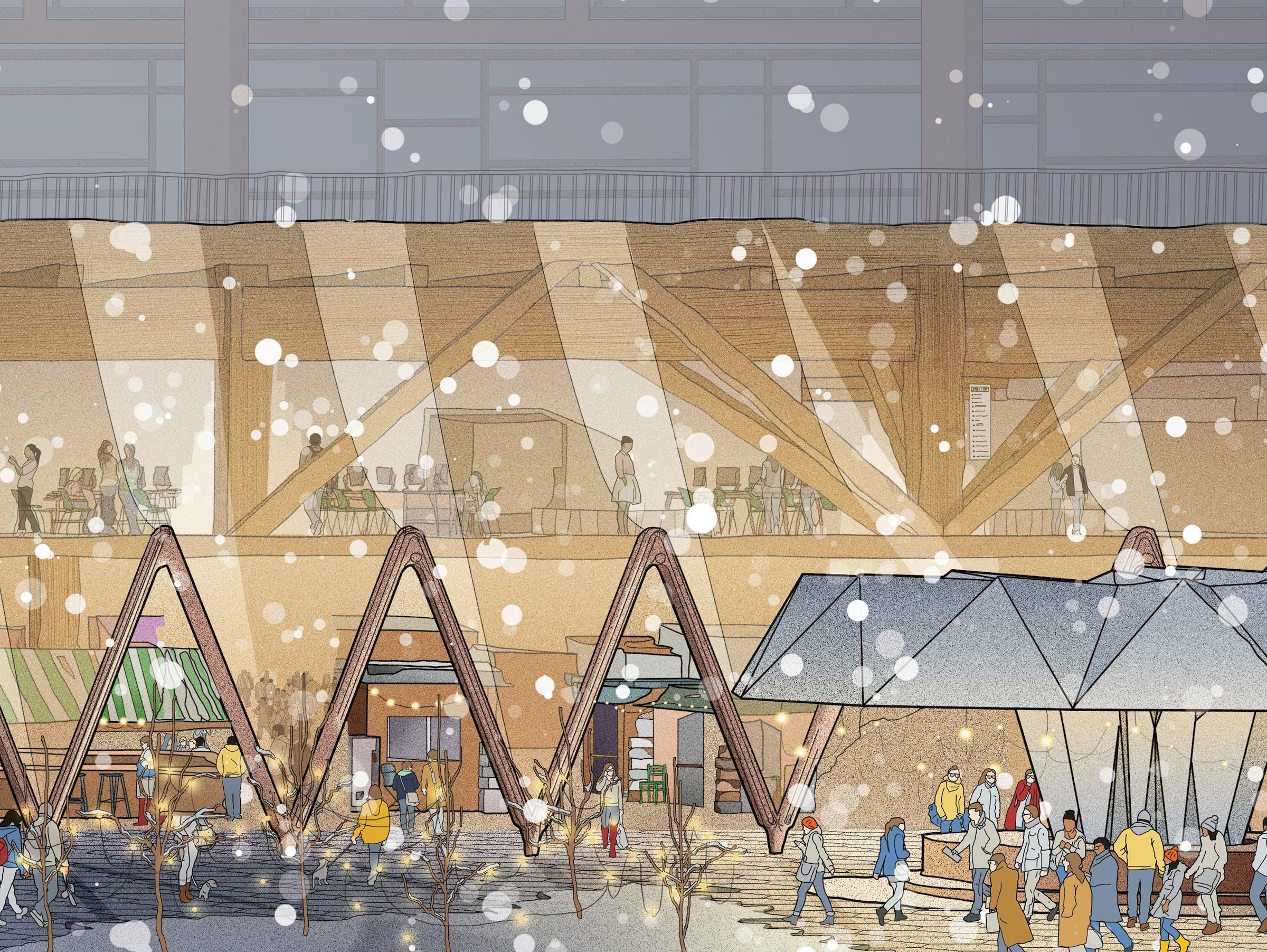 Sidewalk Toronto snow image