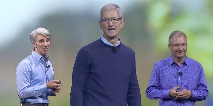 White men who work at Apple, thanking other white men who work at Apple.