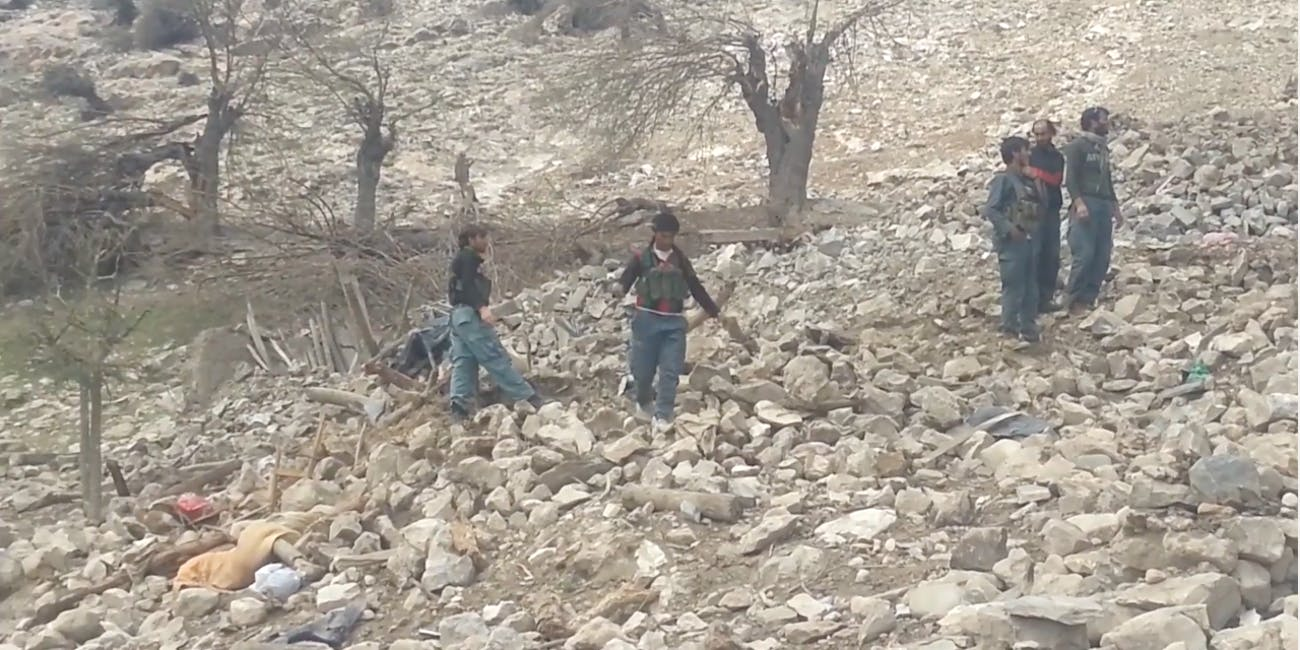 Afghan police releasees footage of the GBU-43/B bomb, or Massive Ordnance Air Blast (MOAB) bomb, strike in Achin Afghanistan.