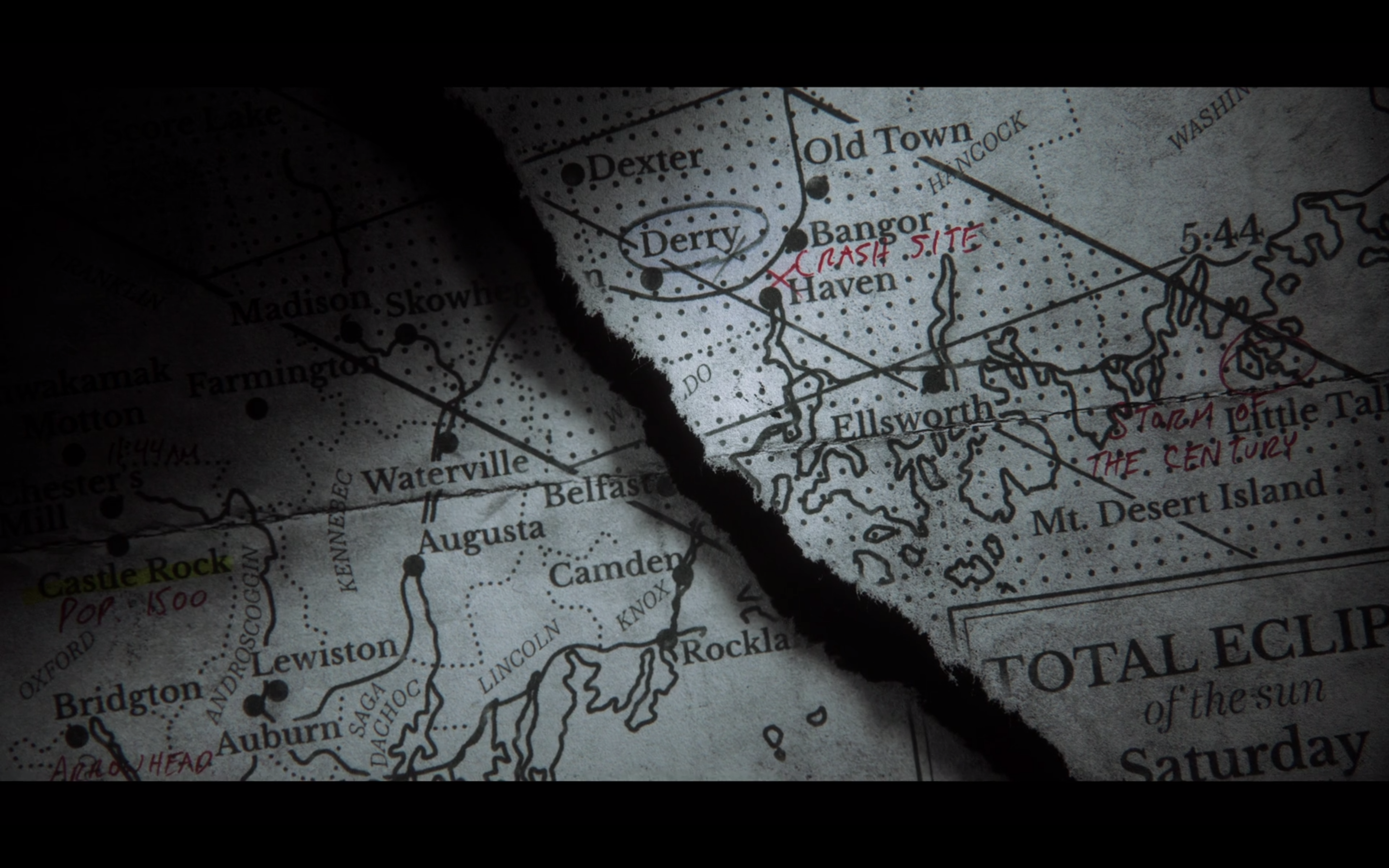 Stephen King Map Of Maine.Castle Rock Every Stephen King Easter Egg In The First 5 Episodes