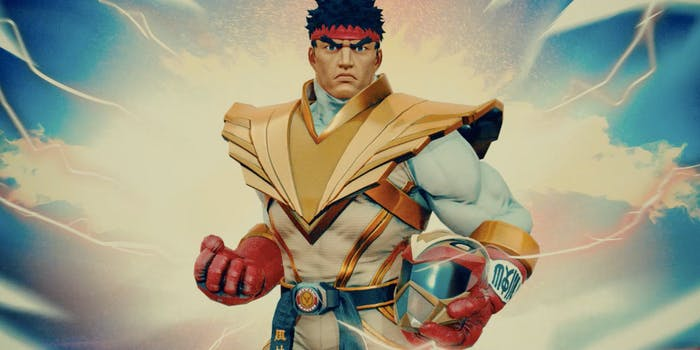 ryu ranger street fighter power rangers crossover