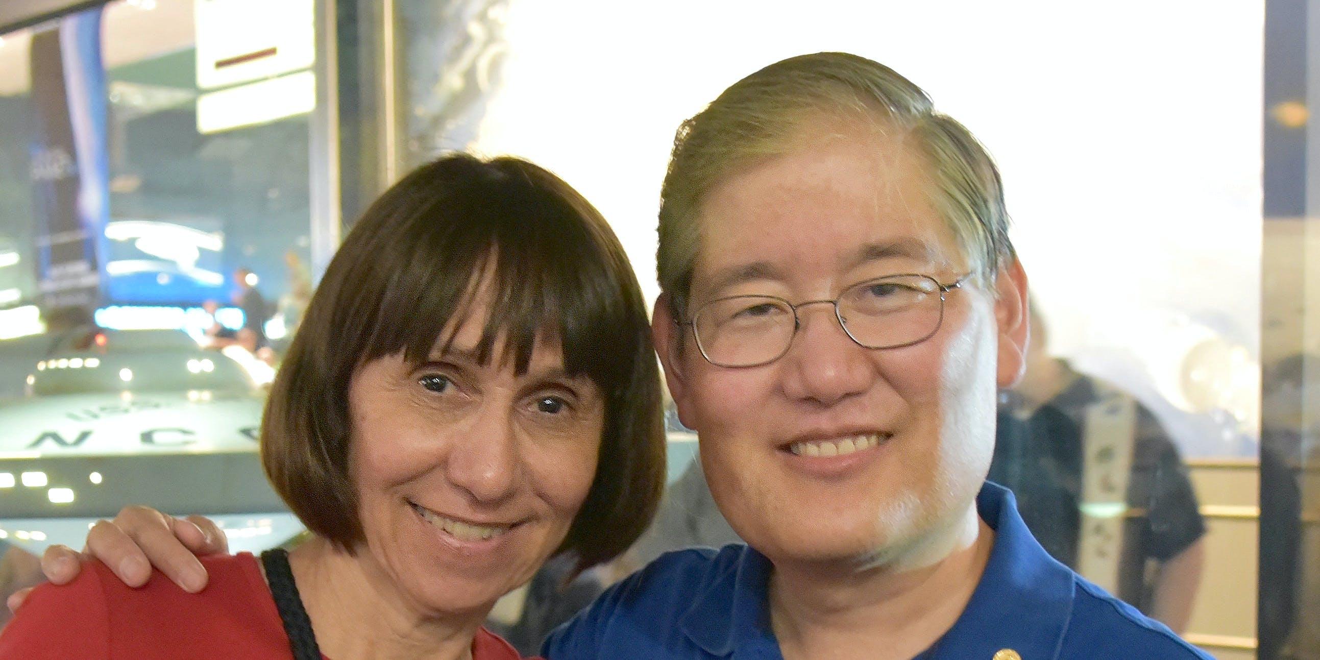 Denise and Michael Okuda