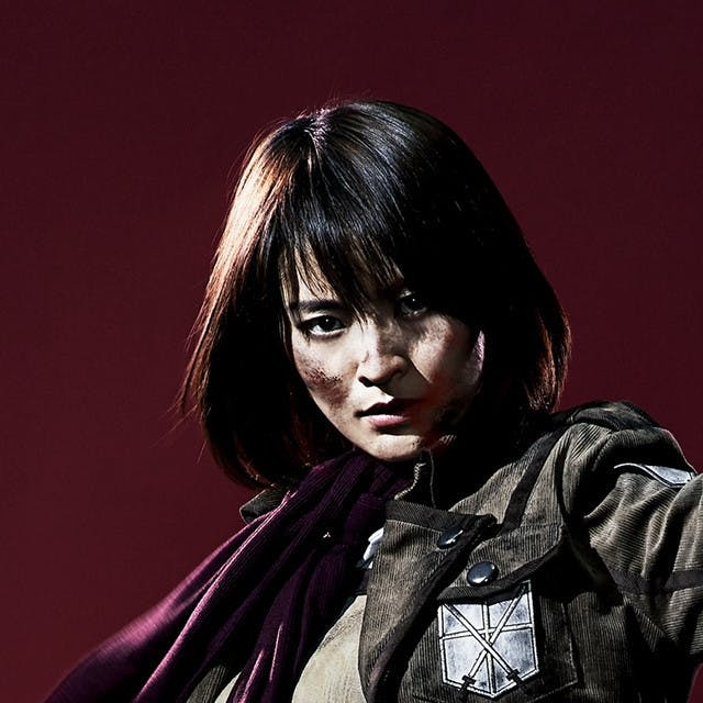 Minami Tsukui as Mikasa Ackerman in 'Live Impact Attack on Titan'