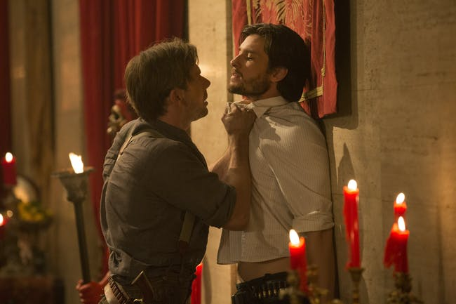 Jimmi Simpson and Ben Barnes in 'Westworld'