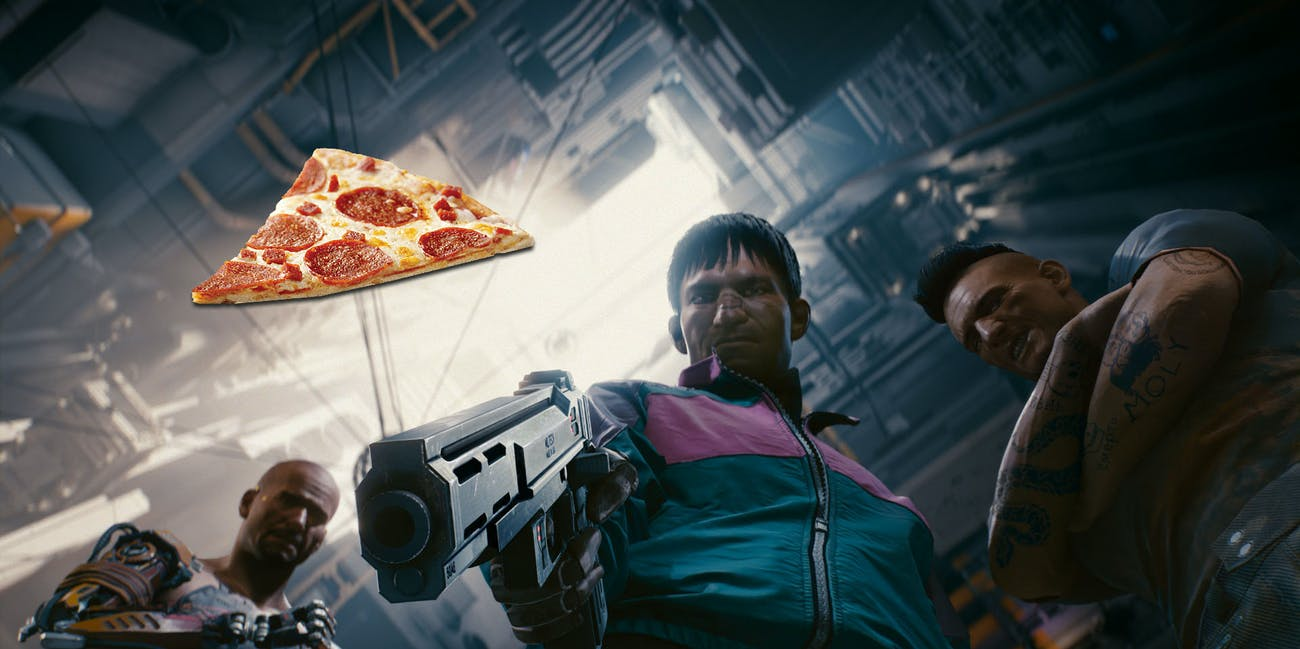 'Cyberpunk 2077' Demo Has a Weird Pizza Man Easter Egg