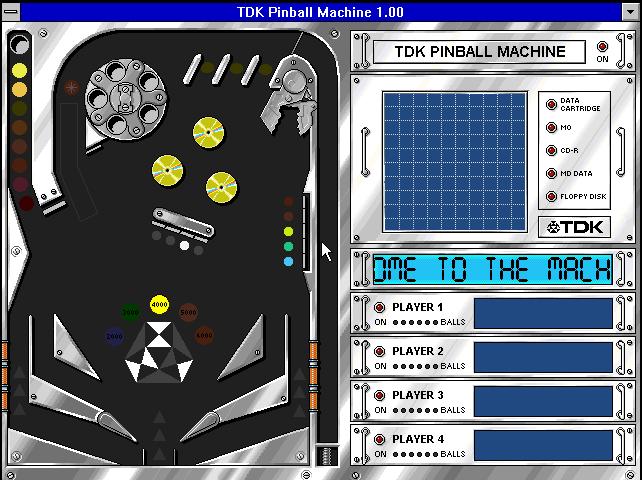 Four player digital pinball, baby!