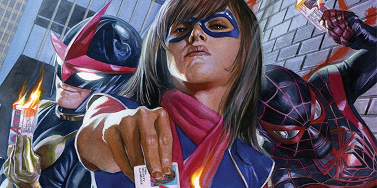 Marvel's Champions burn their Avengers membership cards
