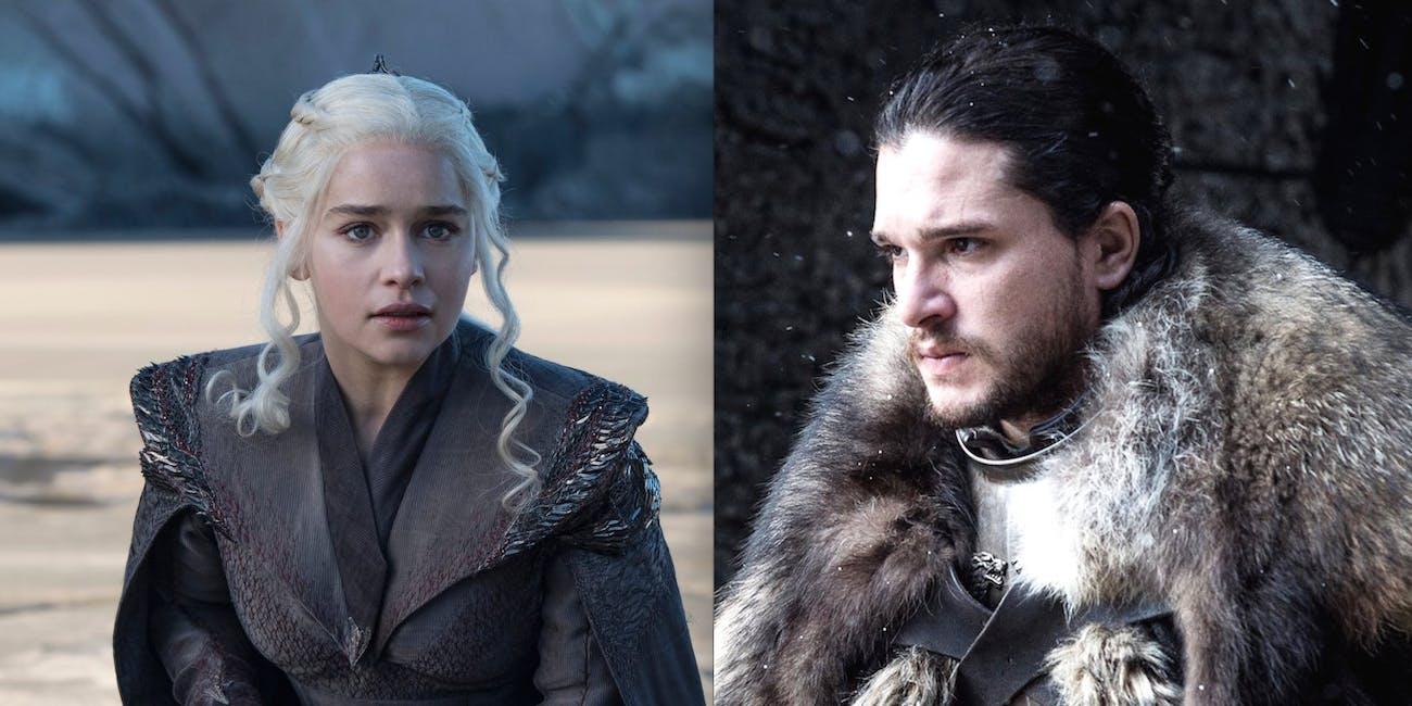 Emilia Clarke and Kit Harington in 'Game of Thrones' Season 7