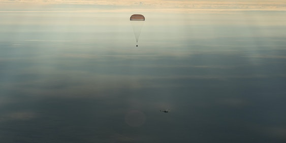 Kate Rubins, Takuya Onishi, and Anatoly Ivanishin safely return to Earth.