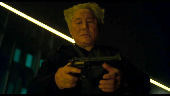Aramaki in the upcoming American adaptation of 'Ghost in the Shell,' portrayed by Takeshi Kitano.