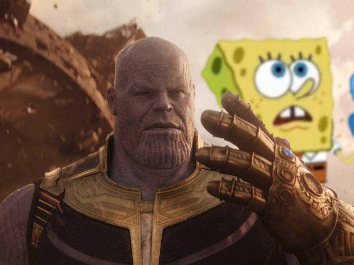 The best unexpected avengers infinity war memes feature spongebob