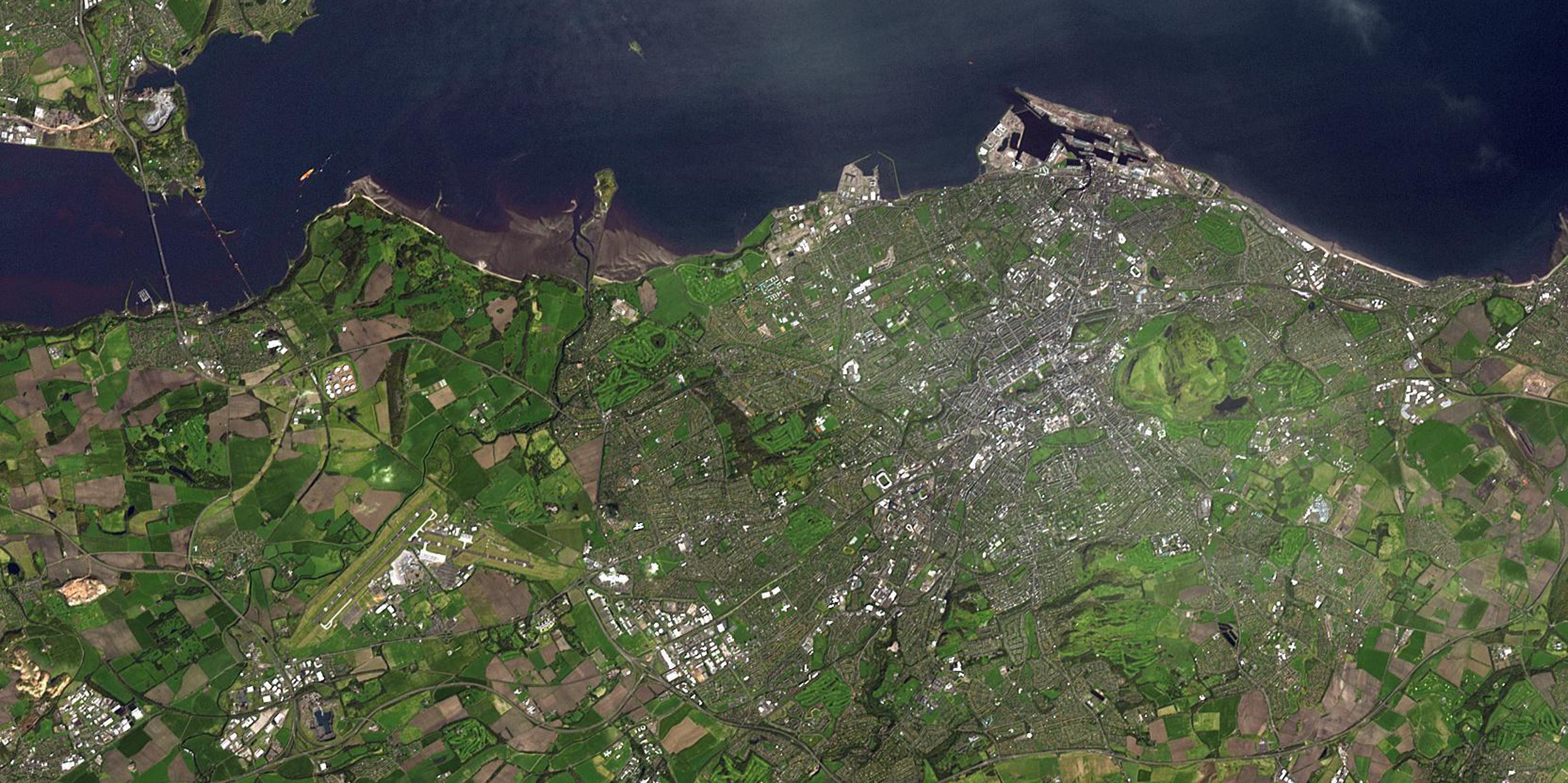 Edinburgh looks green from space.