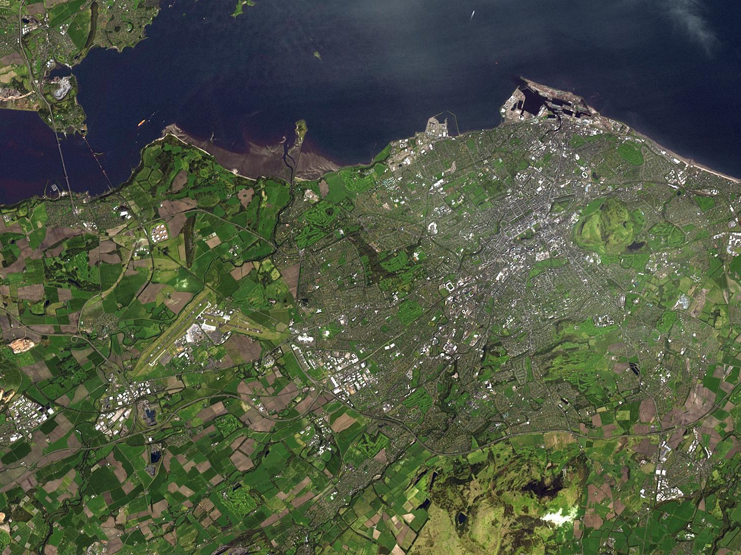 Edinburgh looks green from space.