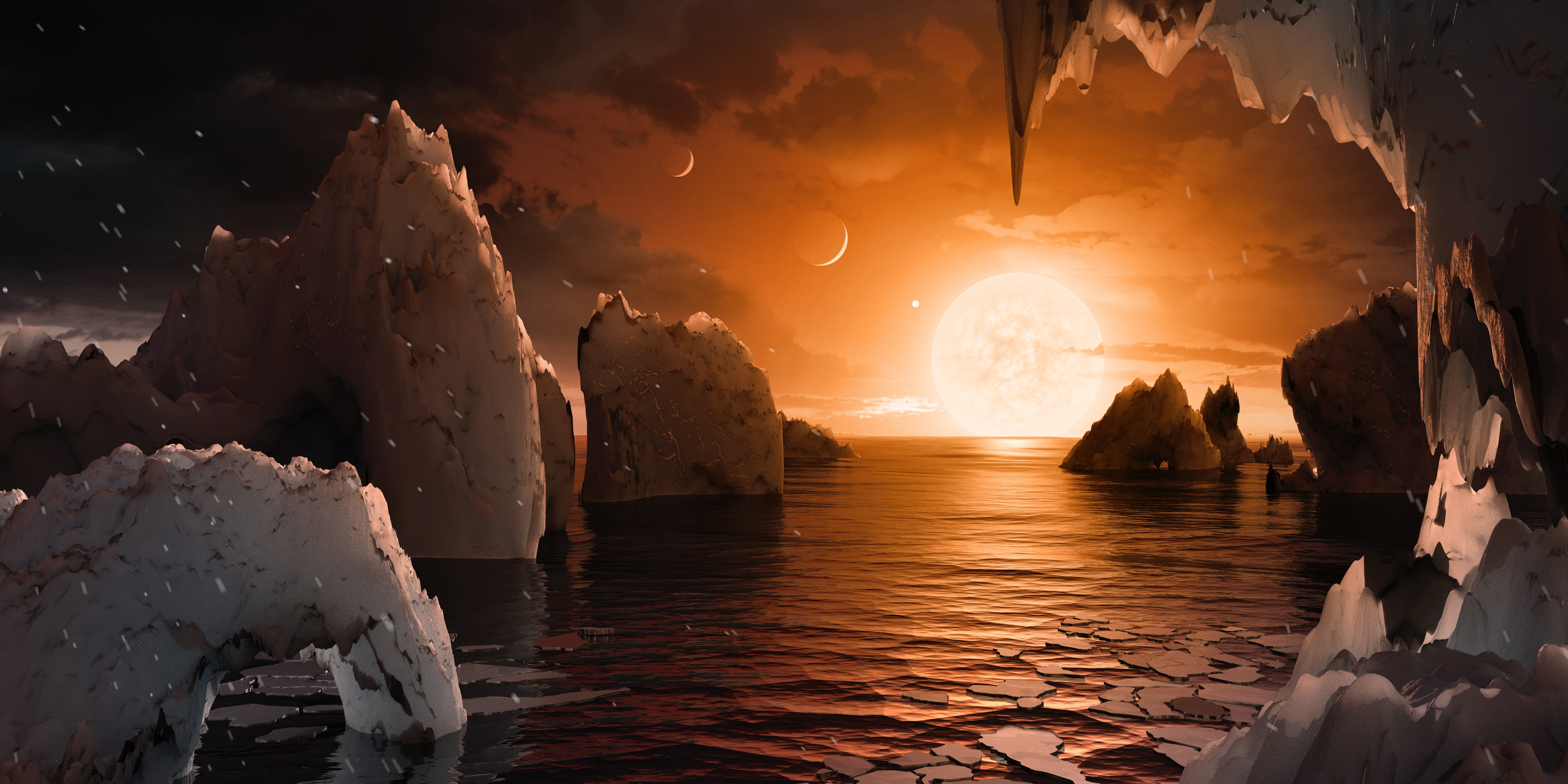 Astronomers Discover 7 Earth-Sized Planets 40 Light-Years Away