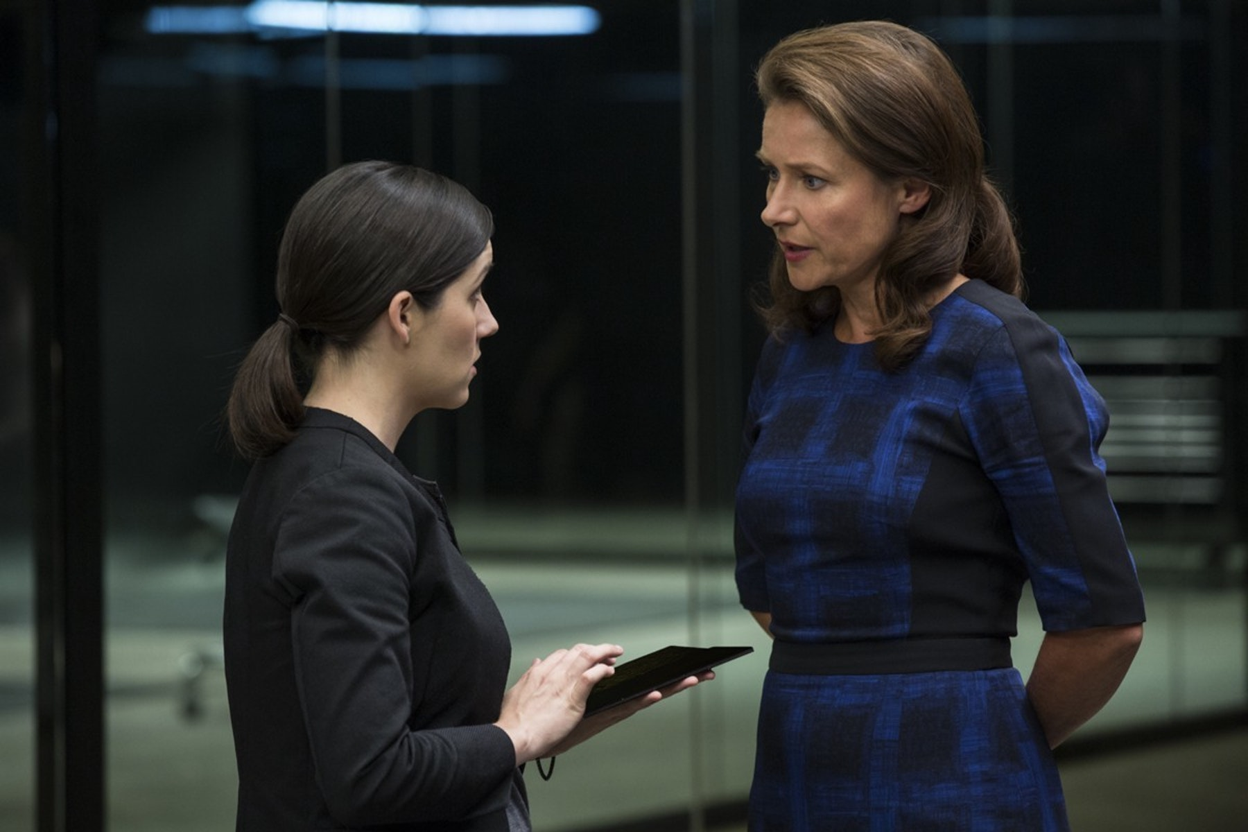 Shannon Woodward as Elsie and Sidse Babett Knudsen as Theresa Cullen, who looks like she means business.