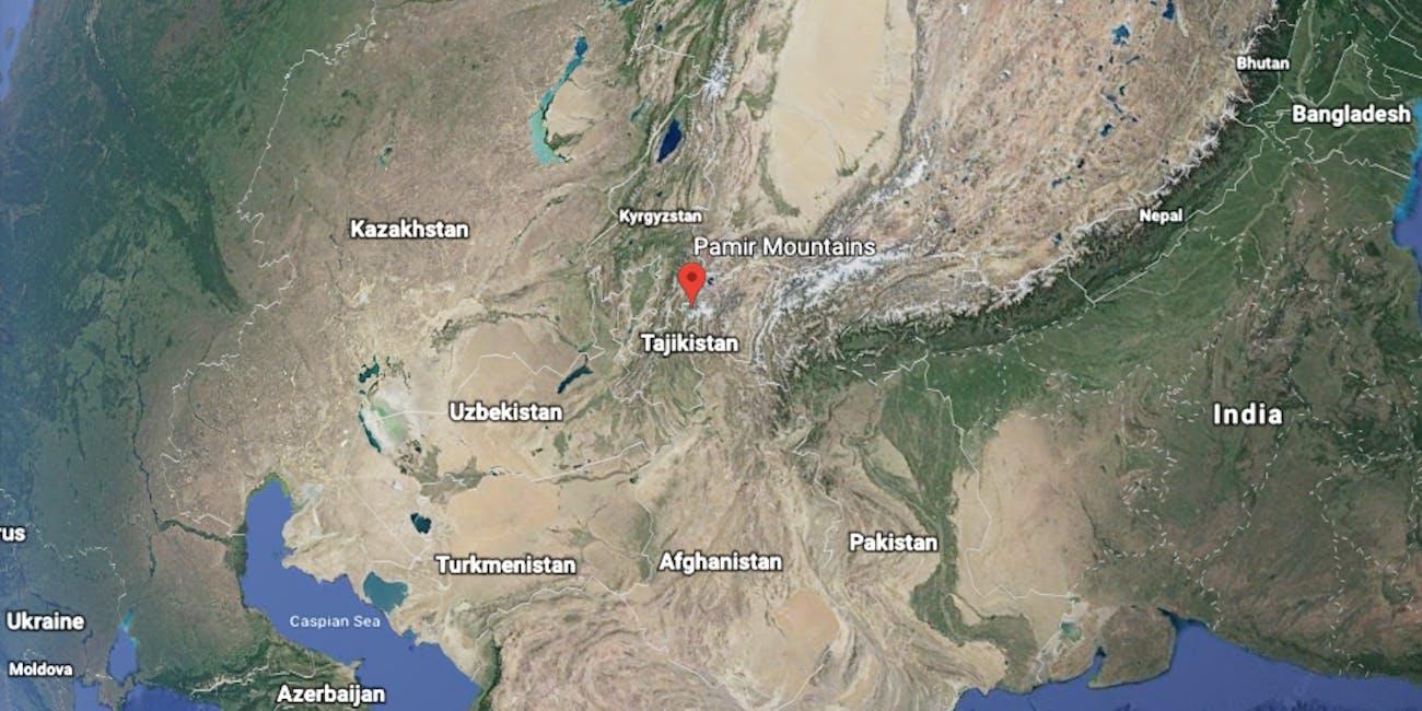 pamir mountains map