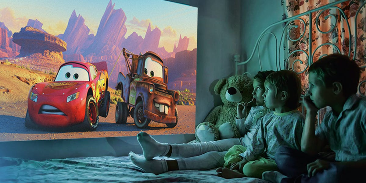 You can watch just about anything on Cinemood, including 'Cars'.