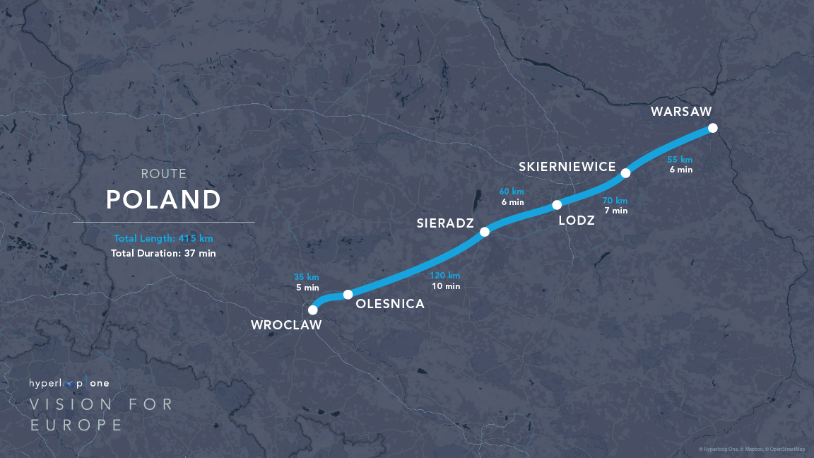 Here Are the Nine Routes Hyperloop One