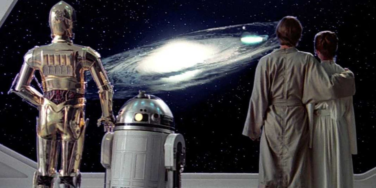 The end of 'Empire Strikes Back'.
