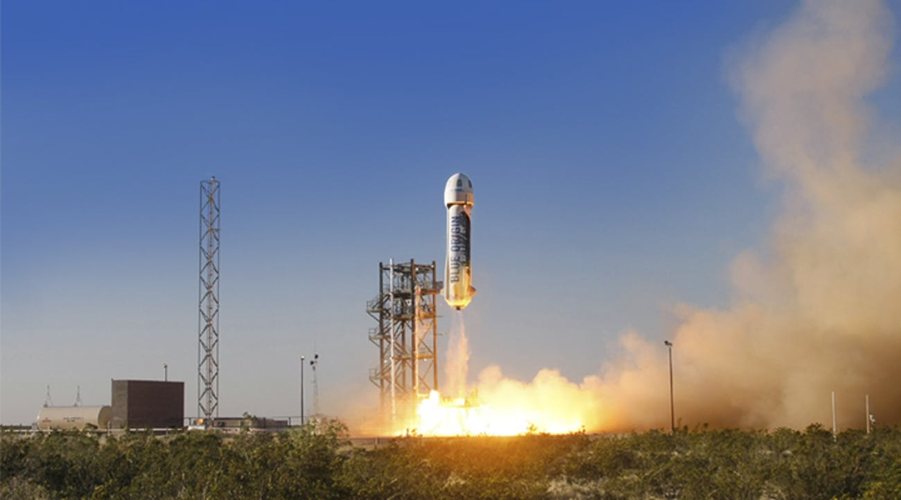 Blue origin test escape