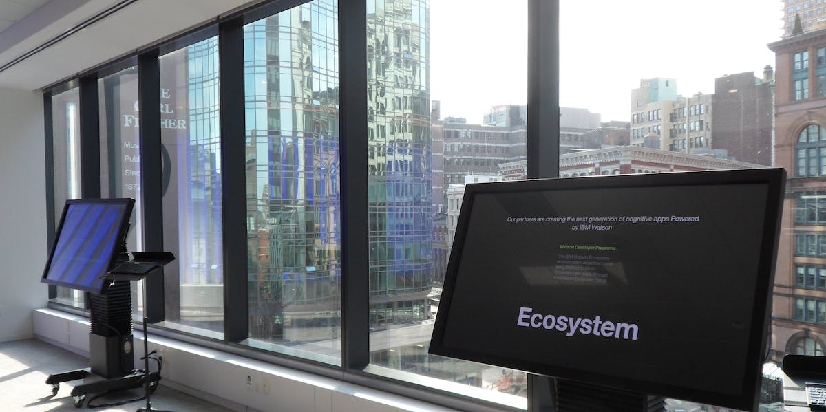 The view of NYC's Silicon Alley from IBM's headquarters.