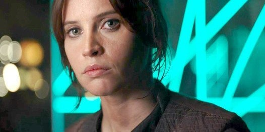 Jyn Erso on Yavin 4 in 'Rogue One'