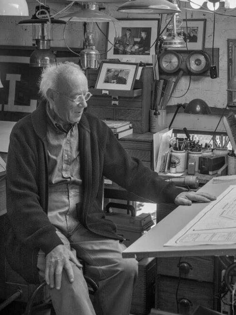 Eugene Lee in his studio