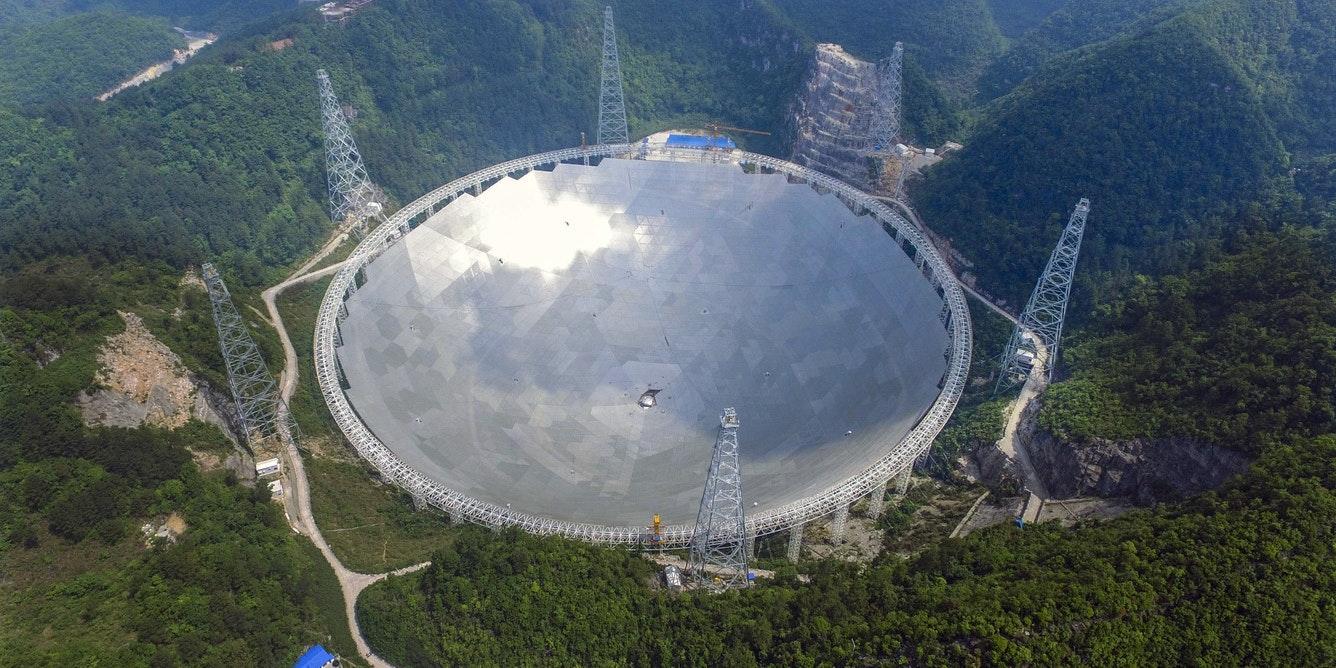 China's FAST telescope, the 500 m radio telescope