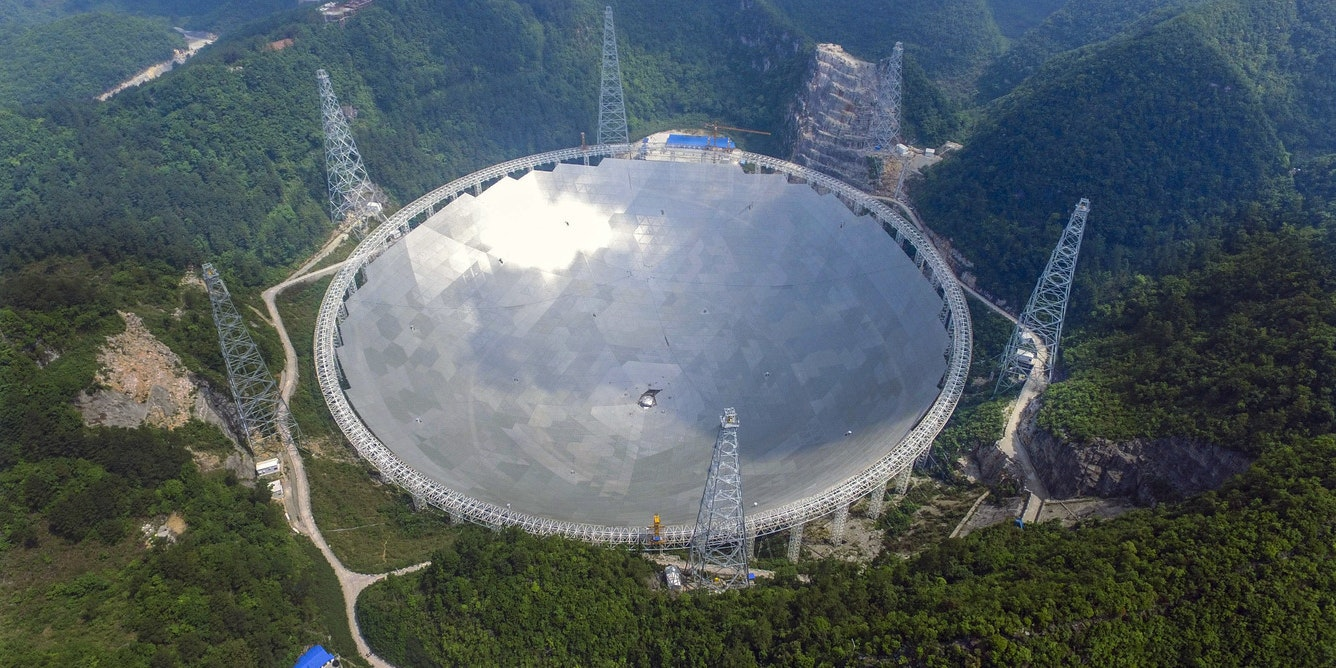 China's FAST telescope, the 500 m radio telescope