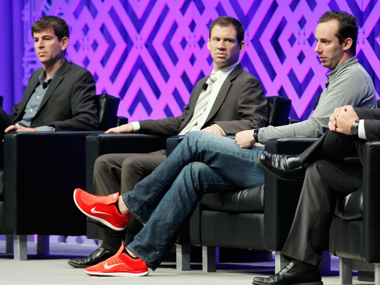 Anthony Levandowski (far right) on a panel discussion.
