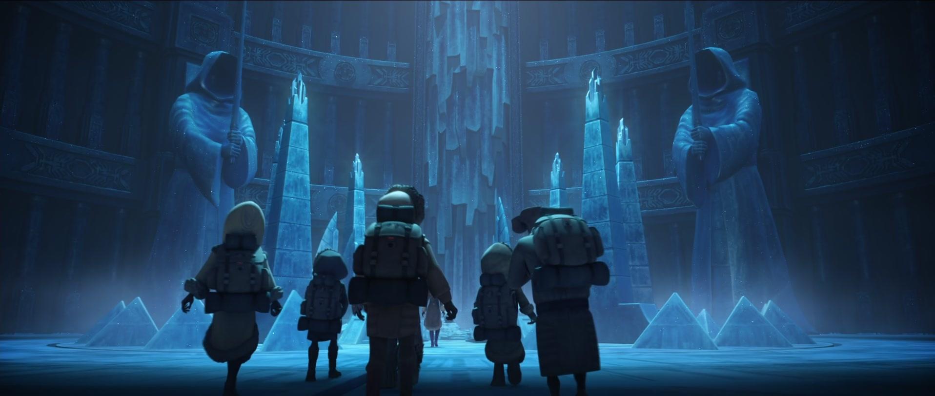 Jedi younglings on Ilum in 'The Clone Wars.'