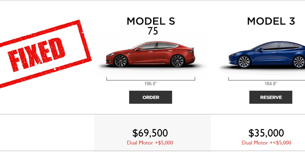 Reddit Fixed That Leaked Model 3 Comparison Chart To Make Tesla More Honest