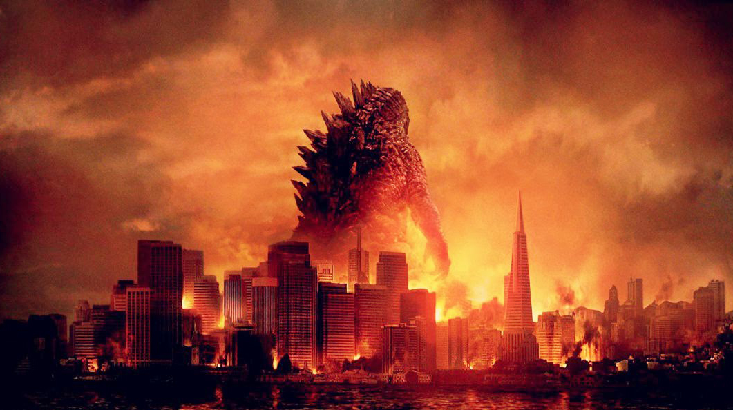 Godzilla looms over San Francisco in the poster for the 2014 'Godzilla.'
